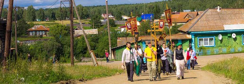 Миссионерский крестный ход по сёлам области, 2015г. Храм преподобного Сергия Радонежского
