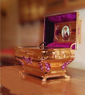 Ковчег с частицей мощей святого равноапостольного великого князя Владимира