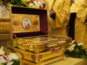 Ковчежец с мощами святого равноапостольного князя Владимира