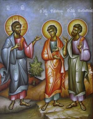 Апостолы Филипп и Нафанаил, икона