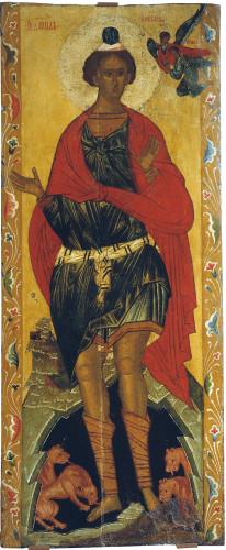Даниил во рву со львами XVI в. Новгород