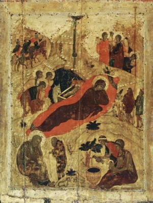 Рождество Христово. Икона. Андрей Рублев