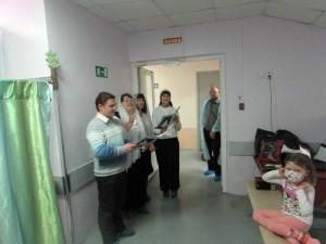 Поздравление с Рождеством маленьких пациентов онко-гематологического центра, город Челябинск, 12.01.2016 год
