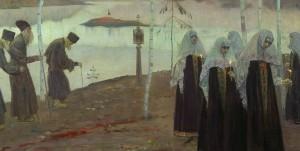 Михаил-Нестеров-—-Отцы-пустынники-и-жены-непорочны-1932-Фрагмент