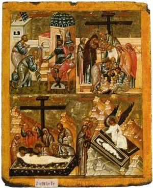 Испрошение тела Христа у Понтия Пилата. Снятие со Креста. Положение во гроб. Явление ангела женам мироносицам