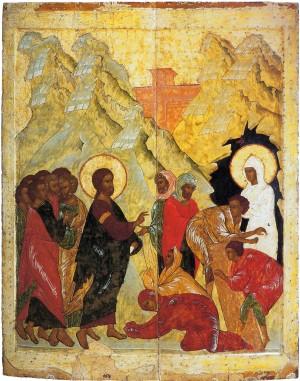 Воскрешение Лазаря. Икона