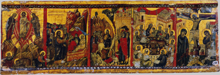 Преображение. Воскрешение Лазаря. Вход Господень в Иерусалим. Тайная Вечеря. Крест