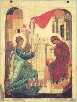 Благовещение. Икона прп. Андрей Рублев