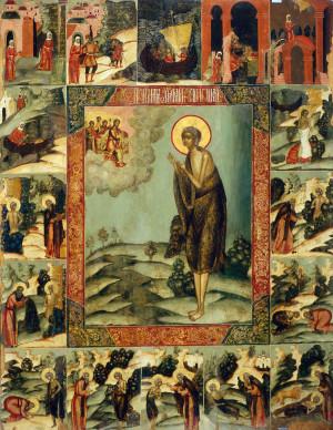 Прп. Мария Египетская. Икона с житием