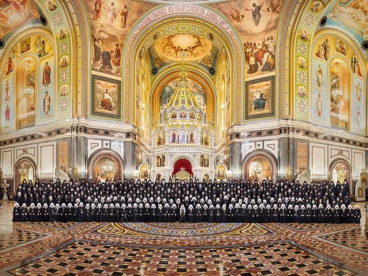 Собор иерархов православной церкви. Общее фото
