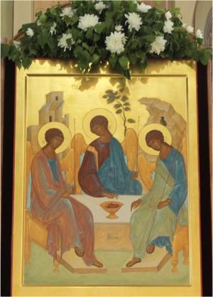 Икона Святой Троицы, фото