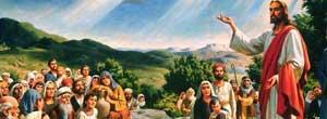Иллюстрация Господь Иисус Христос проповедь