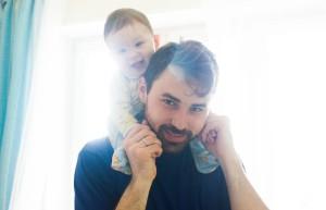 Антон с сыном Михаилом