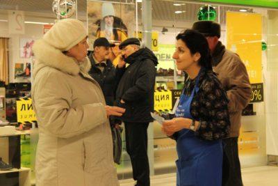 Волонтер Тамара Журавлева.