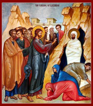 Воскрешение Лазаря, икона