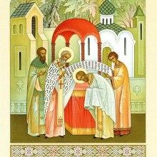 001 Епископ Афанасий рукополагает святого Сергия во священнический сан