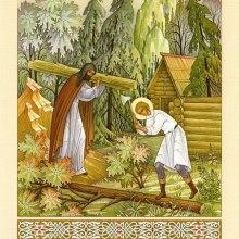 005 Варфоломей и Стефан стоят церковь и келию