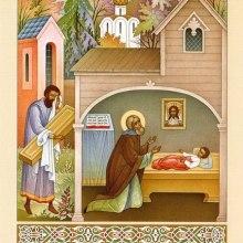 008 Преподобный Сергий воскрешает умершего отрока