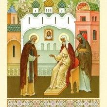 011 Митрополит Алексий вручает Преподобному Сергию золотой крест