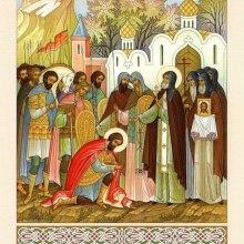 012 Святой Сергий благословляет князя Дмитрия на борьбу с Мамаем