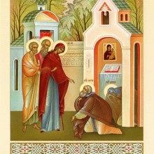 014 Посещение преподобного Сергия Божией Матерью