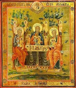 Икона св. патриархи Авраам, Исаак и Иаков.