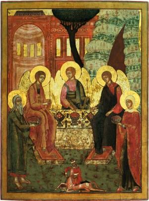 Троица Ветхозаветная. Икона. Невьянск. 1811г
