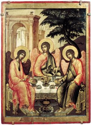 Троица. Икона. Симон Ушаков.