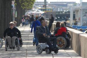колясочники на улице