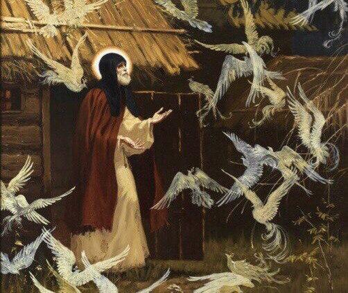 Преподобный Сергий и птицы