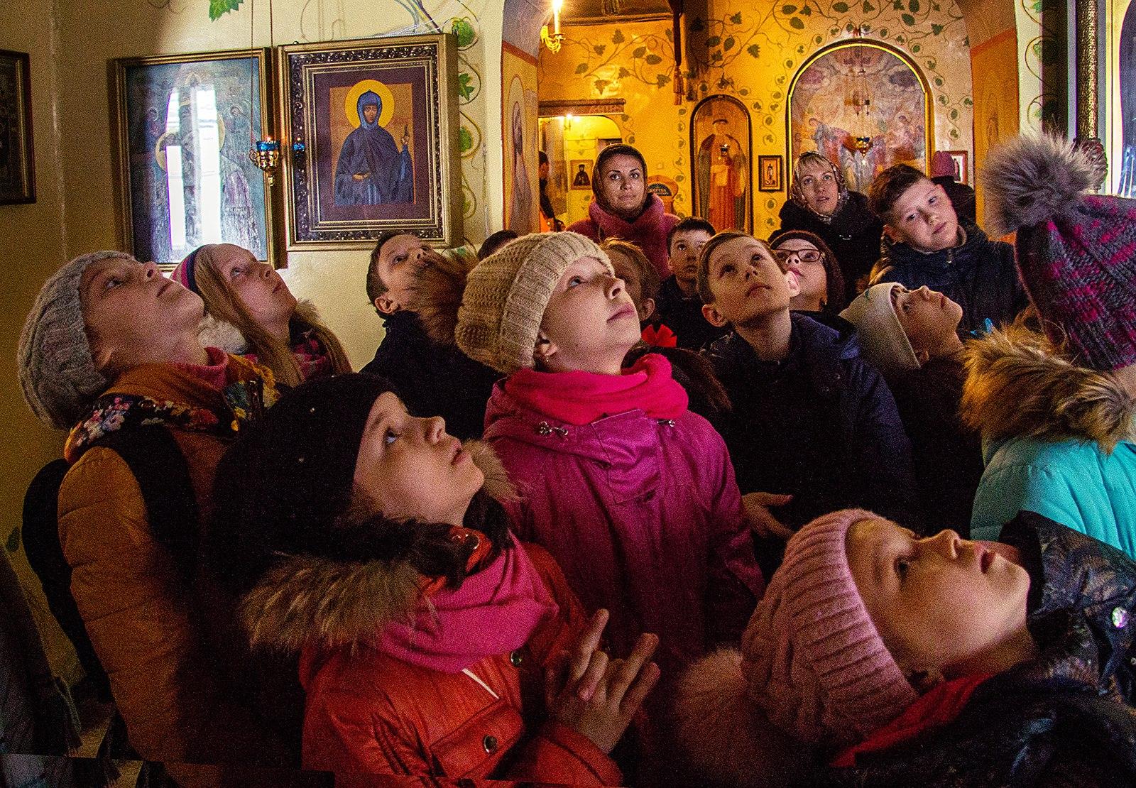 Одигитриевский женский монастырь, экскурсия школьников 22 марта 2018 года Челябинск