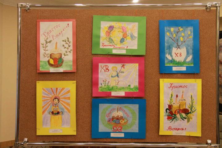 """В центре """"Наследие"""" проходит выставка детских рисунков студий """"Барбарискино"""" и """"Родничок"""" """"Пасхальный калейдоскоп"""""""