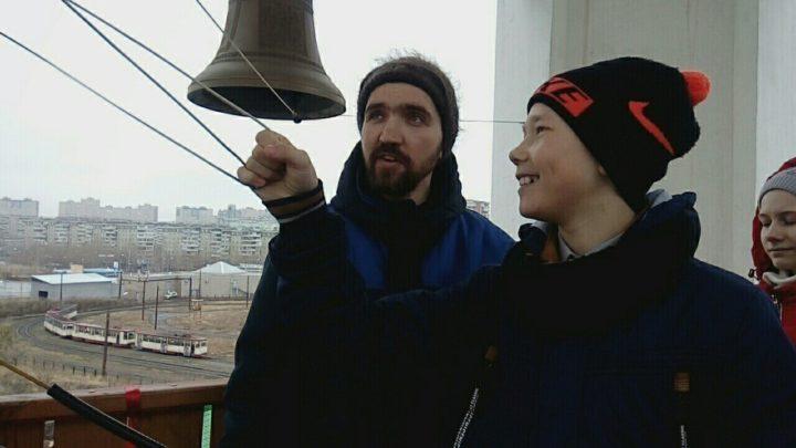 Больше всего понравилось звонить в колокола