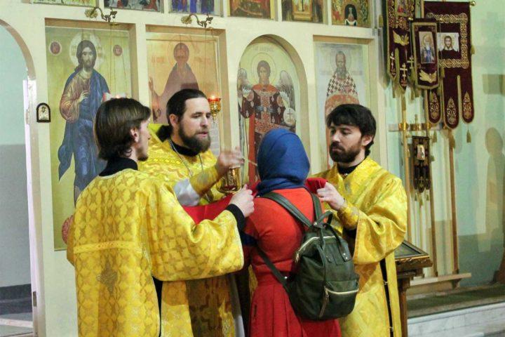 Новогодняя литургия, 2018-2019, Челябинск, храм преподобного Сергия Радонежского