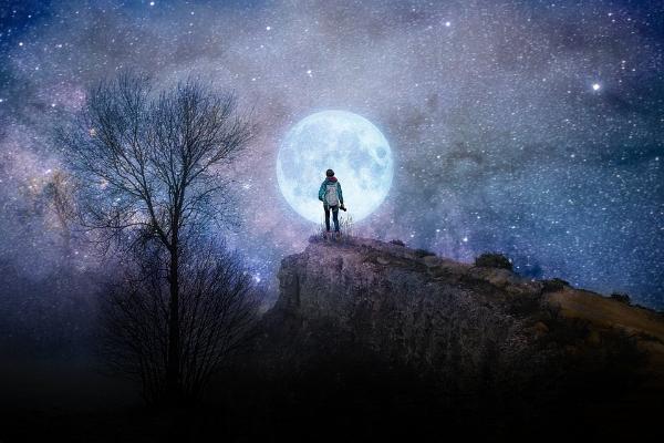 Рисунок. Лунная ночь