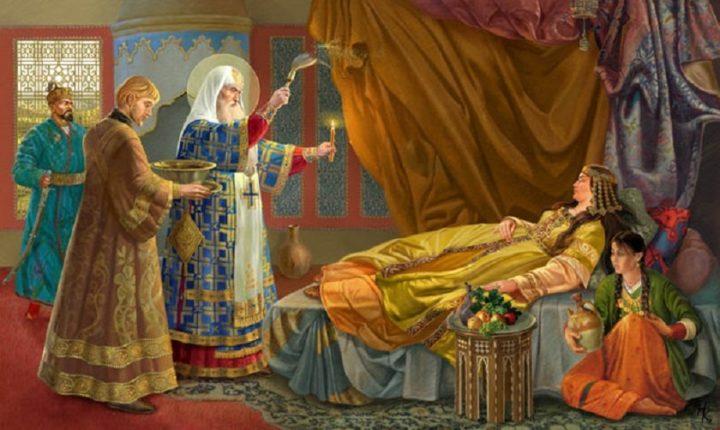 Исцеление Митрополитом Алексеем Московским Тайдулы, жены Чанибека, Хана Золотой Орды