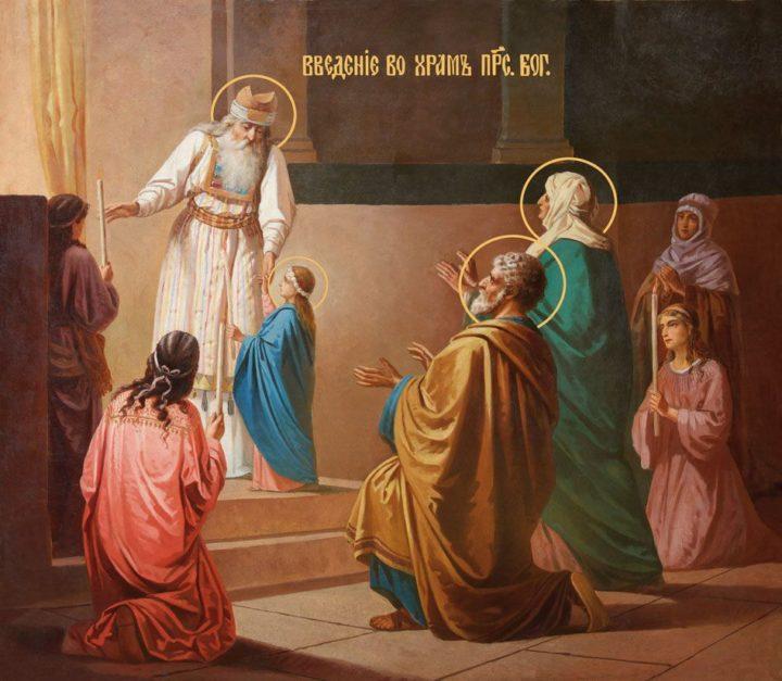 Введение во храм Пресвятой Богородицы, икона